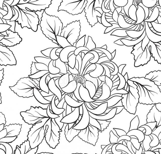 to mau hoa cuc phong cach vintage