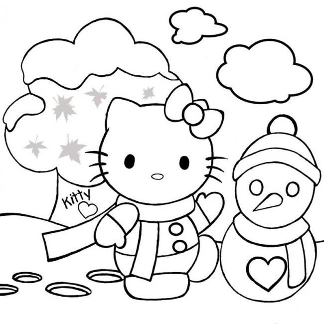 tranh tô màu nhân vật hoạt hình cho bé gái 1