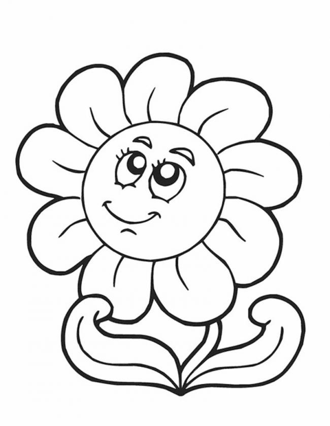 tranh tô màu bông hoa cho bé gái