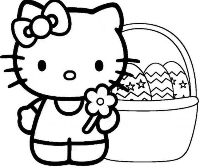 tranh to mau kitty ben trung giang sinh