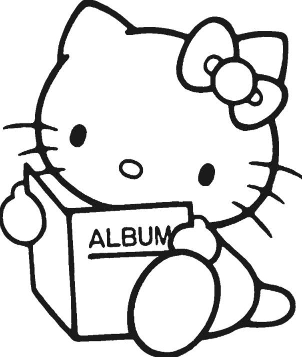 tranh to mau kitty xem album