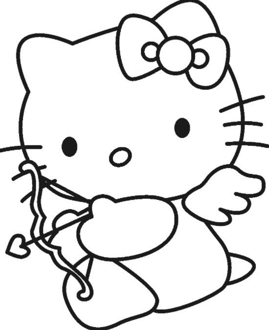 tranh to mau kitty cho be than tinh yeu