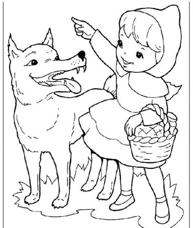 Chó sói trong chuyện cổ tích này các bé