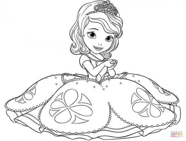 Sofia diện váy bồng bềnh