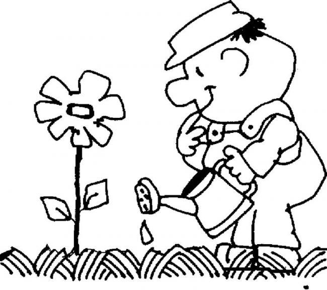 be tuoi hoa trong vuon nha ba