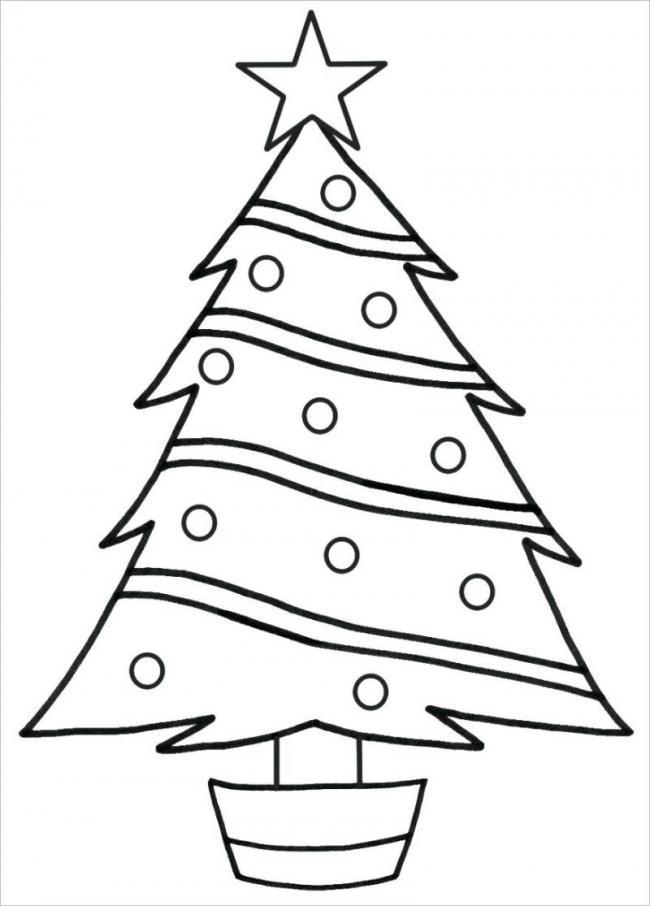 Hình ảnh cây thông Noel trên đỉnh có đính ngôi sao