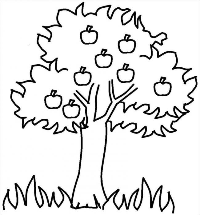 Tranh vẽ những trái táo sai trĩu trên cây