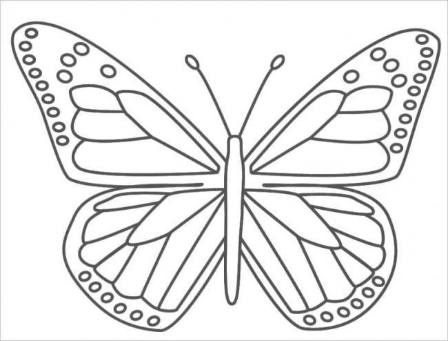 Bé tô màu con bướm thật xinh nhé