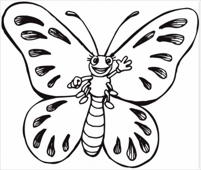 Chú bướm vẫy tay chào bé đó