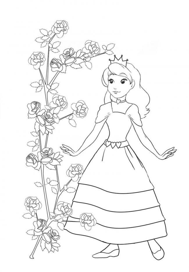Công chúa nhỏ ngắm hoa