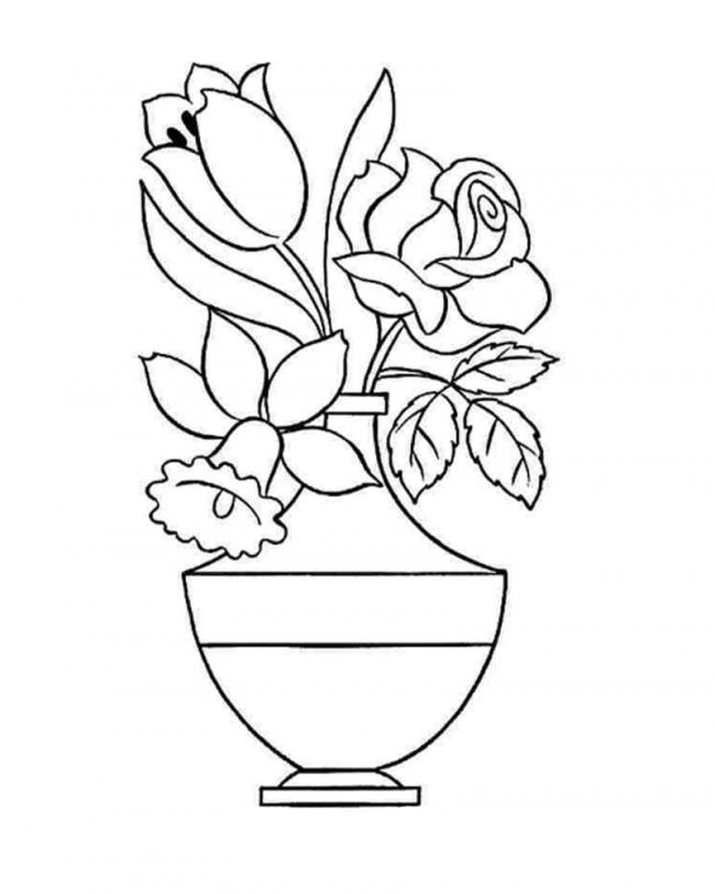 tranh tô màu lo hoa đẹp