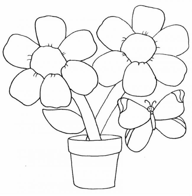 tranh to mau chau hoa cung chu buom xinh