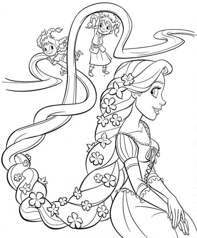 hình ảnh công chúa với mái tóc cài hoa