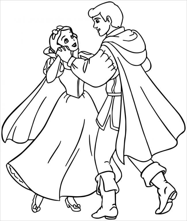 hình ảnh hoàng tử nắm tay công chúa Bạch Tuyết
