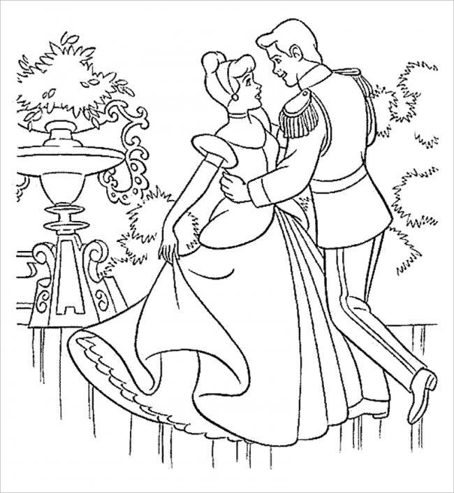 Hoàng tử và công chúa hạnh phúc bên nhau