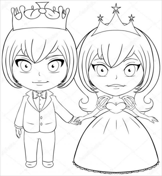 Hoàng tử và công chúa nhỏ xinh đẹp