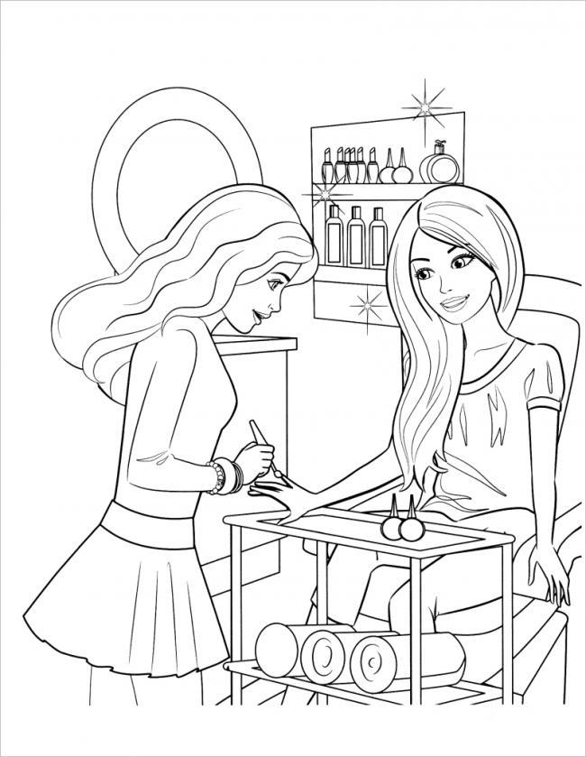 Barbie rất thích được vẽ móng tay