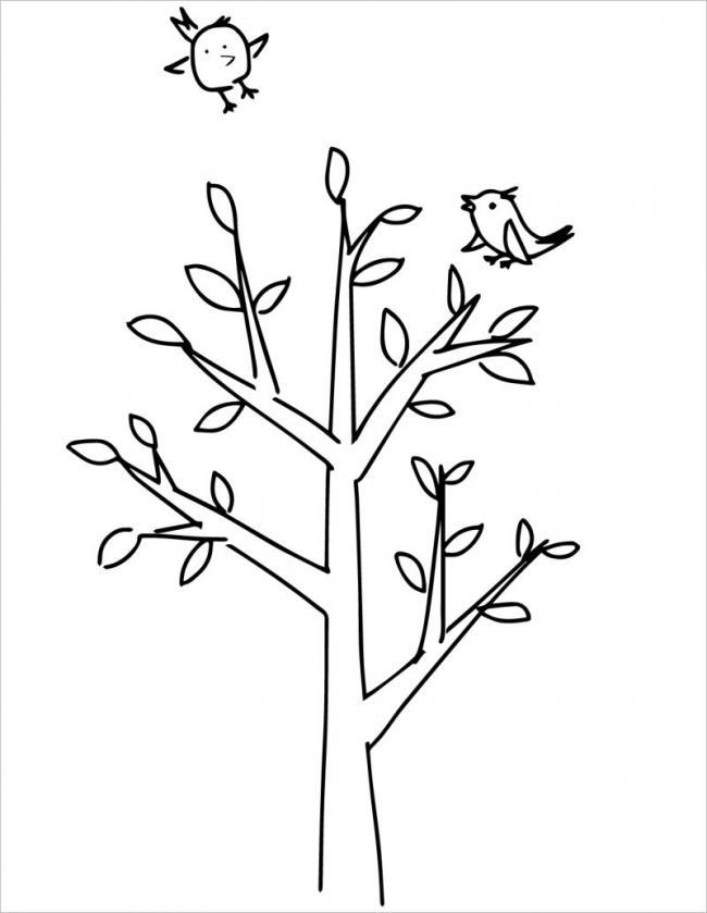 hình vẽ cây xanhđua nhau đâm chồi nảy lộc