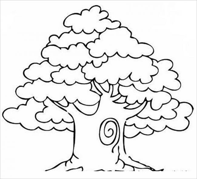 tranh vẽ cây cổ thụ vào mùa hè