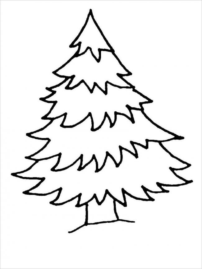 Bức vẽ cây thông Noel vào mùa đông