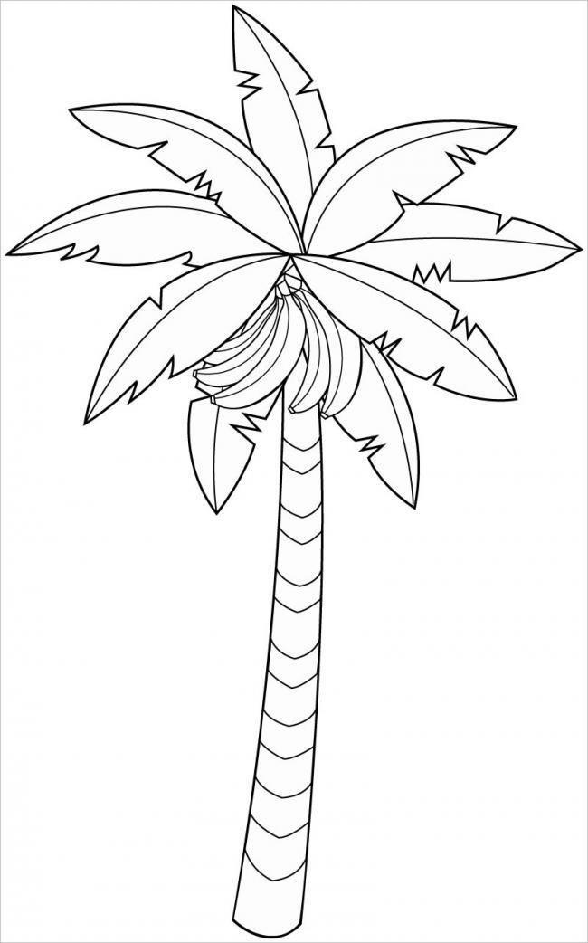 Hình ảnh cây chuối trong trí tưởng tượng của bé