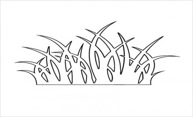 Tranh vẽ một khóm cỏ dại mọc ven đường