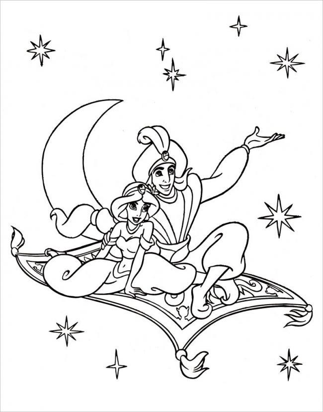 Hình ảnh Aladin, Jasmine cùng tham bay thần kỳ