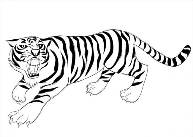 Hình ảnh hổ đang vồ mồi