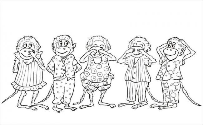 Gia đình khỉ có đồng phục yêu chưa kìa