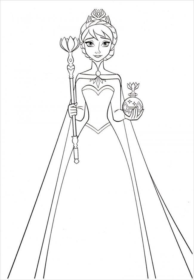 Elsa đội vương miện
