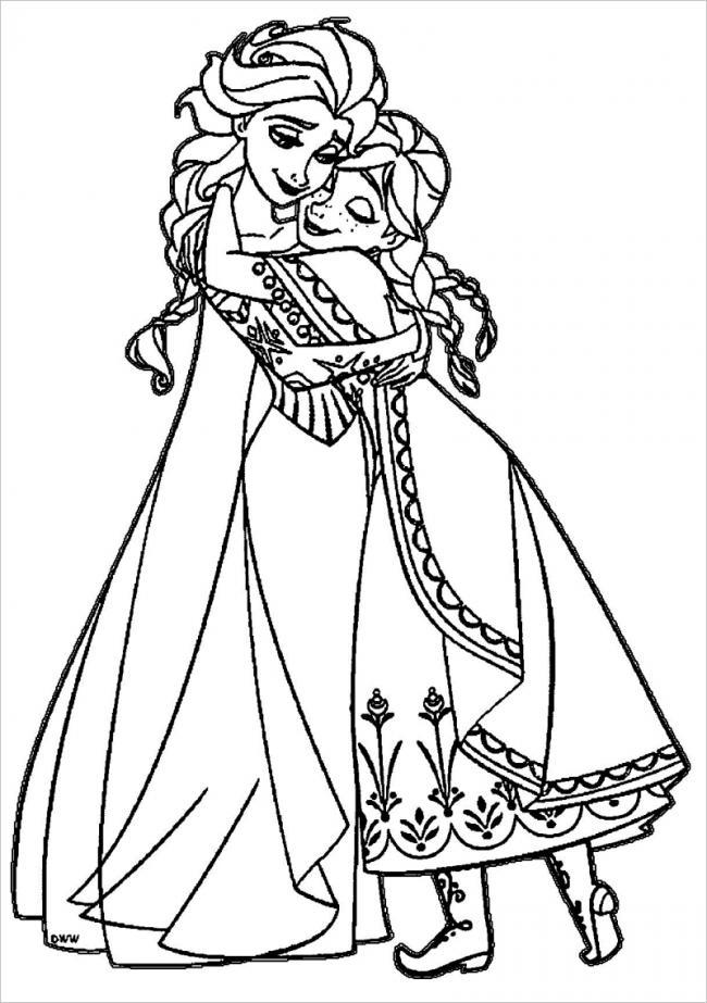 hình ảnh Anna hạnh phúc trong vòng tay của Elsa