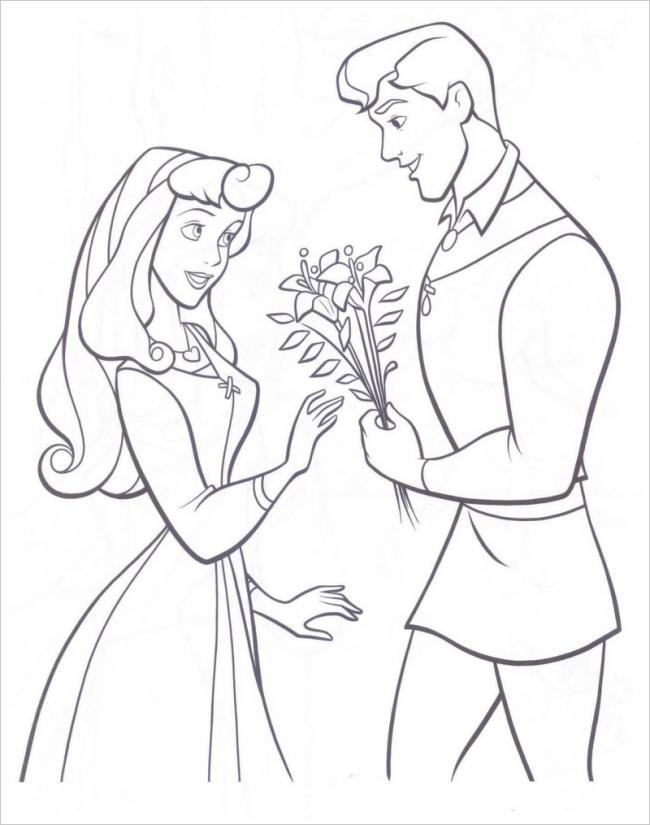 Hoàng tử tặng hoa cho công chúa