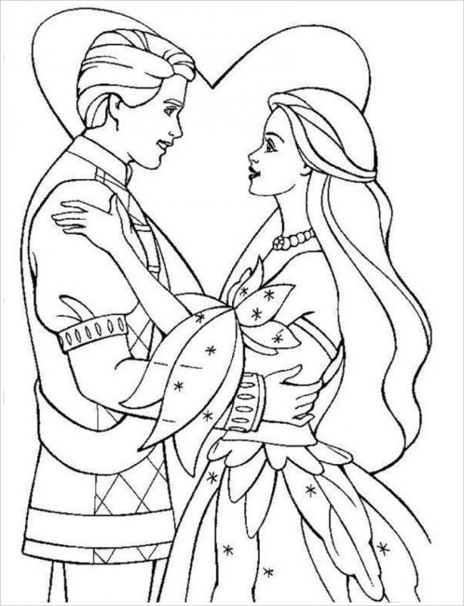 hình ảnh hạnh phúc bên nhau của hoàng tử và công chúa