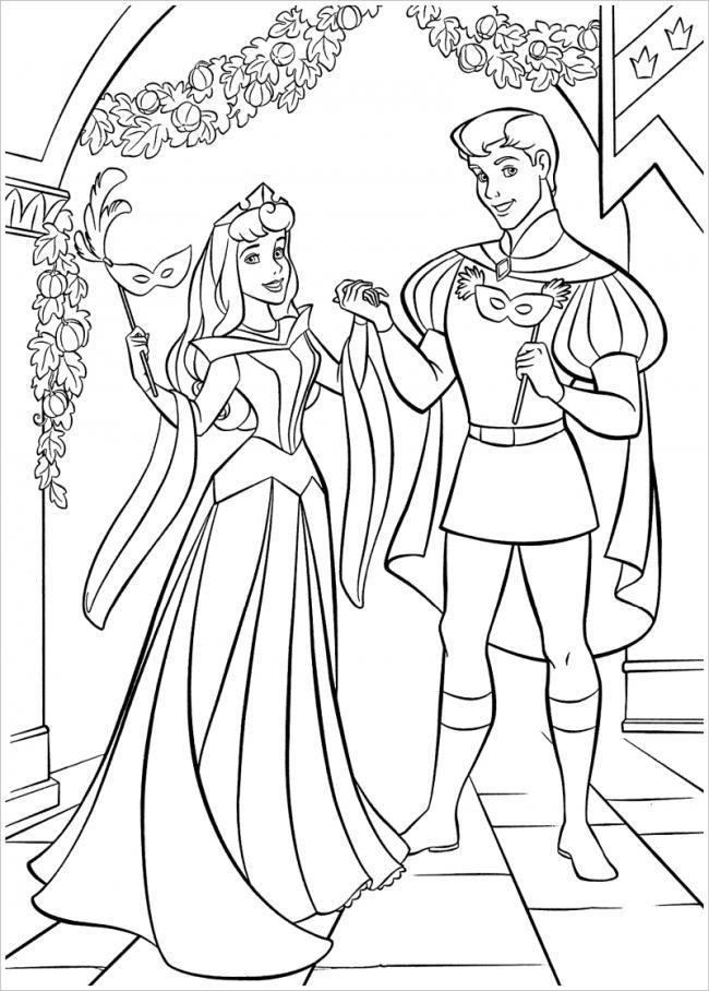 Công chúa và hoàng tử đi dự hội
