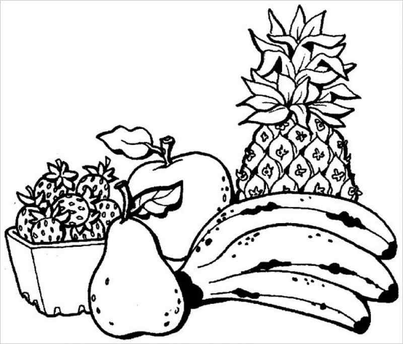 các loại quả ăn hàng ngày rấ dễ tô màu