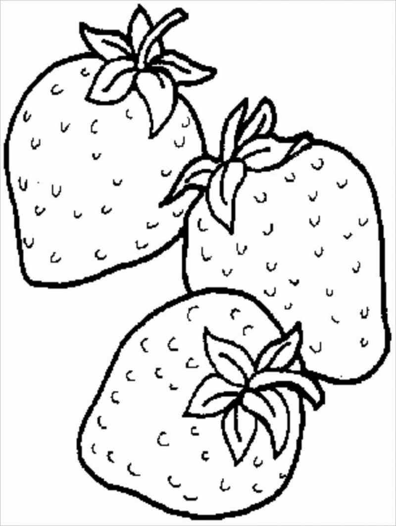 Hình ảnh quả dâu tâyquen thuộc giúp bé dễ tô màu