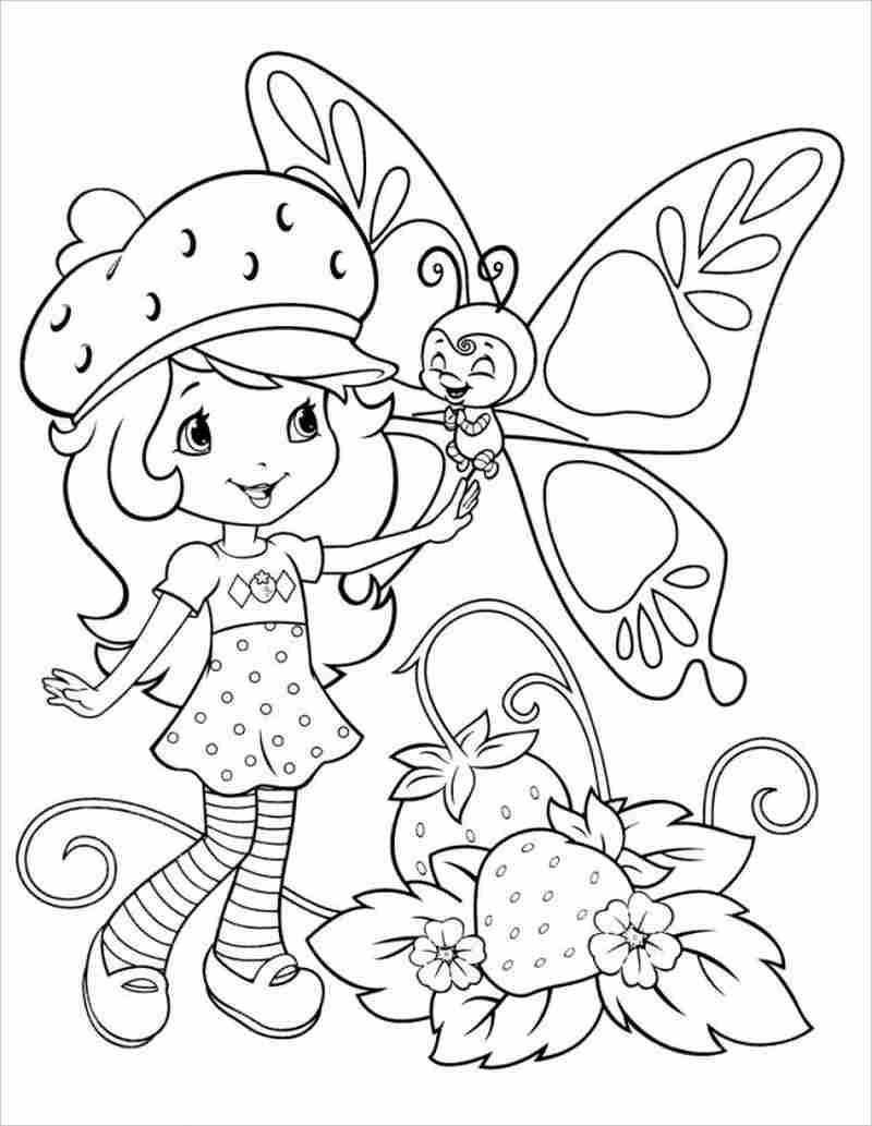 Tranh tômàu dâu tâyStrawberry Shortcake