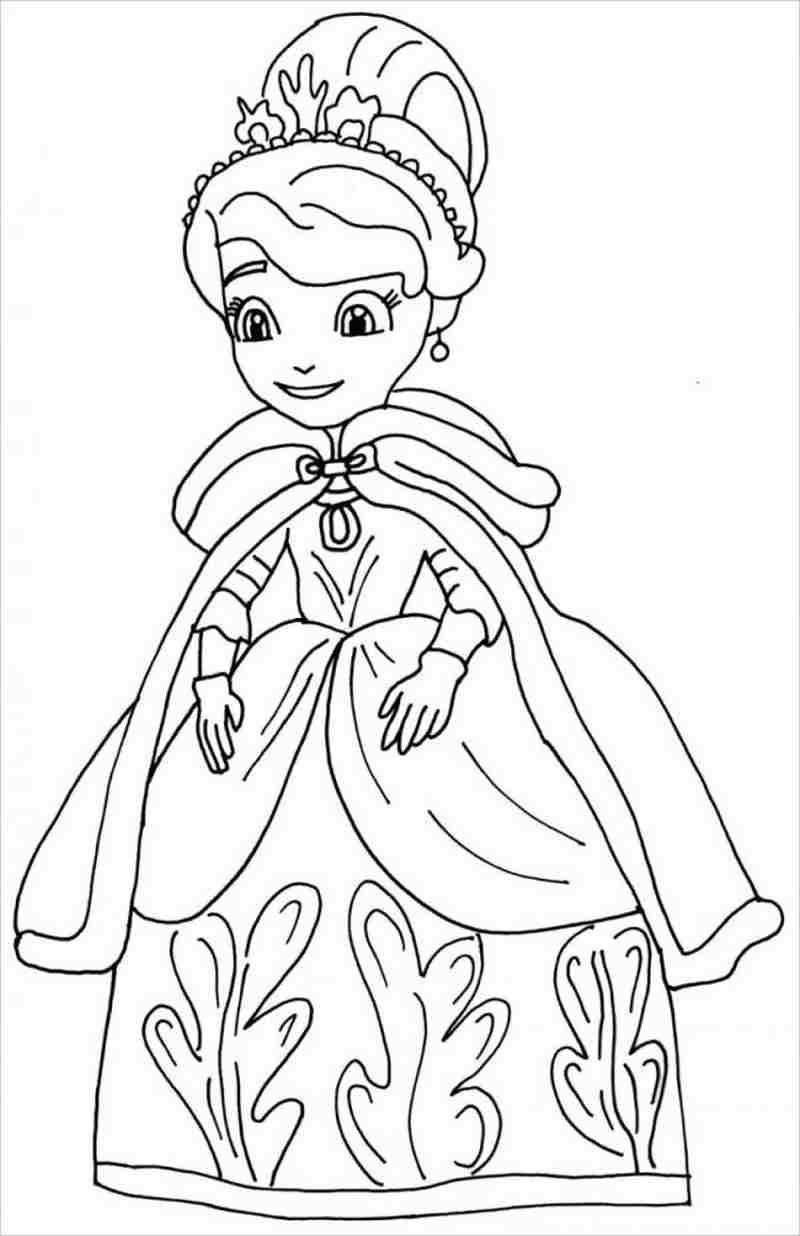 hình ảnh công chúa khoác áo bào và đội vương miện