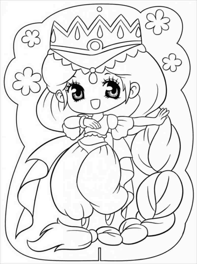 Công chúamắt tròn đội vương miện thật oai nghi