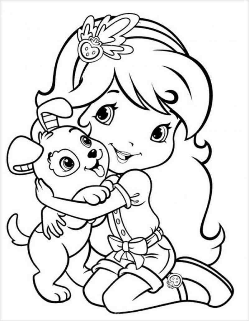Công chúa nhỏ rất yêu động vật