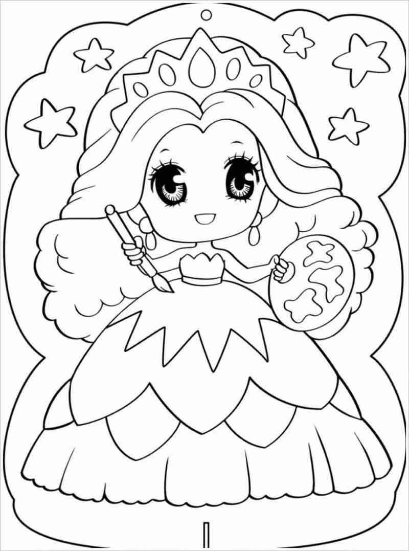 công chúa mắt tròn diện váy 3 tầng
