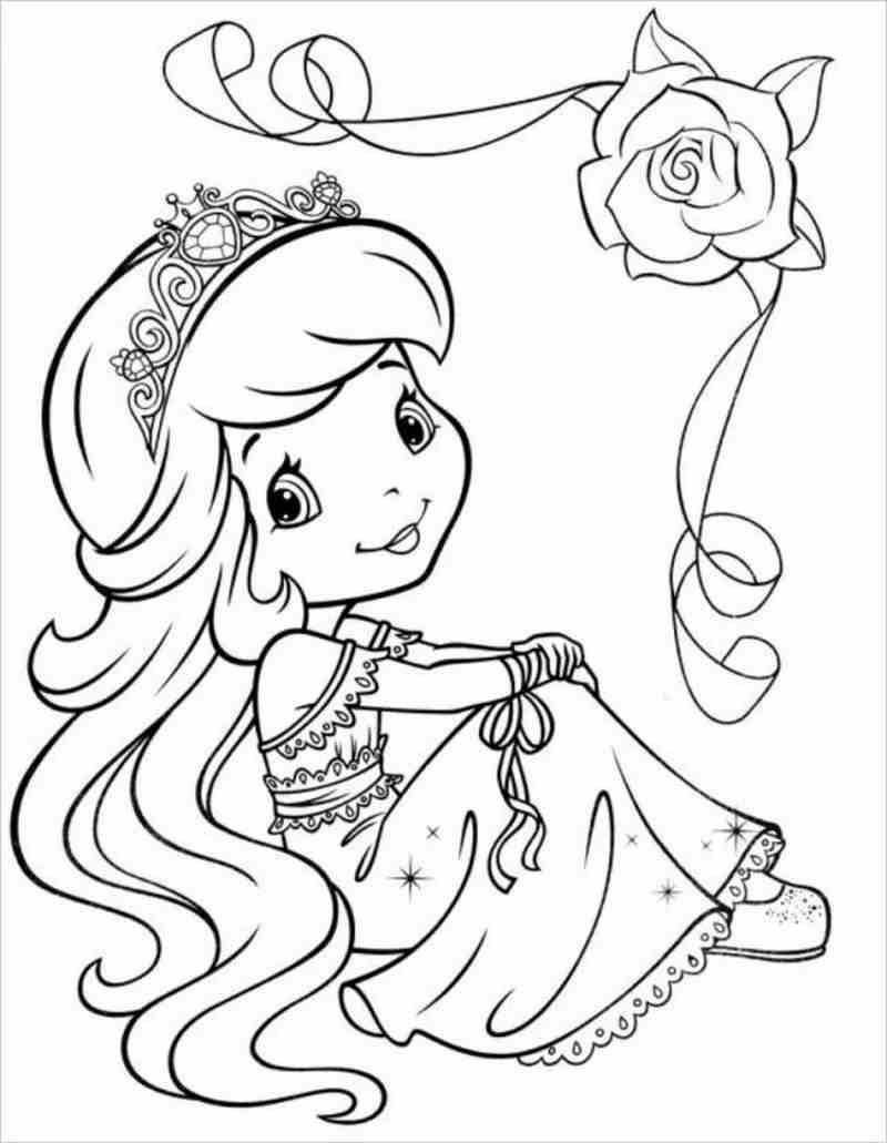 Công chúa ngồi mơ màng thật đáng yêu
