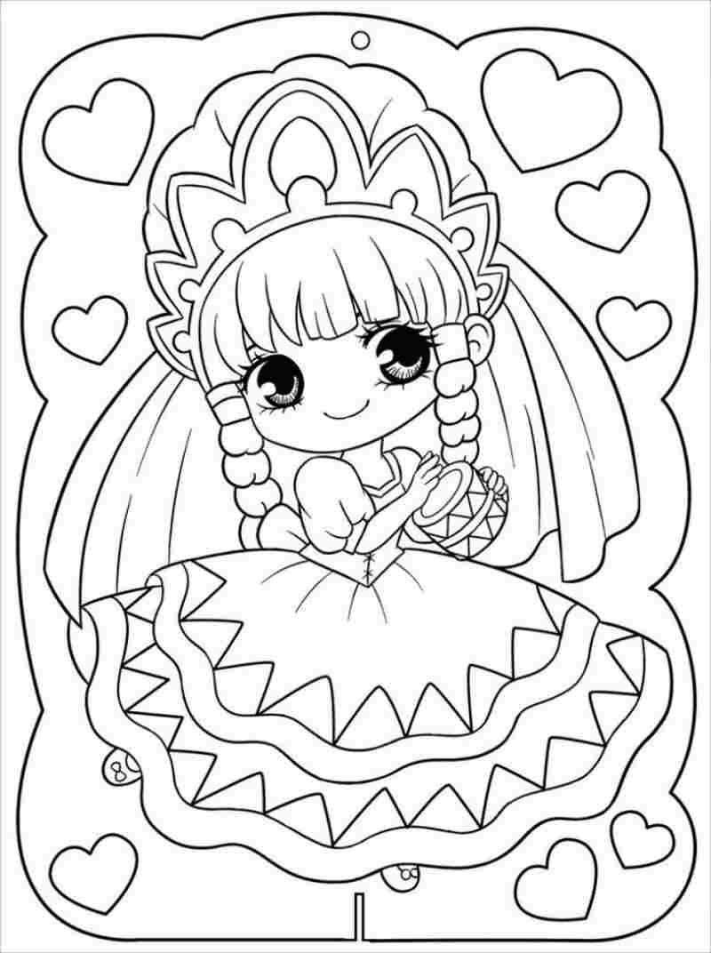 Công chúa mắt tròn rất thích tết tóc