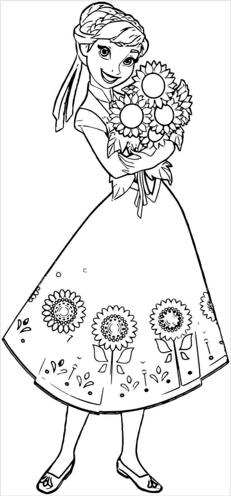 Hình ảnh Anna ôm hoa