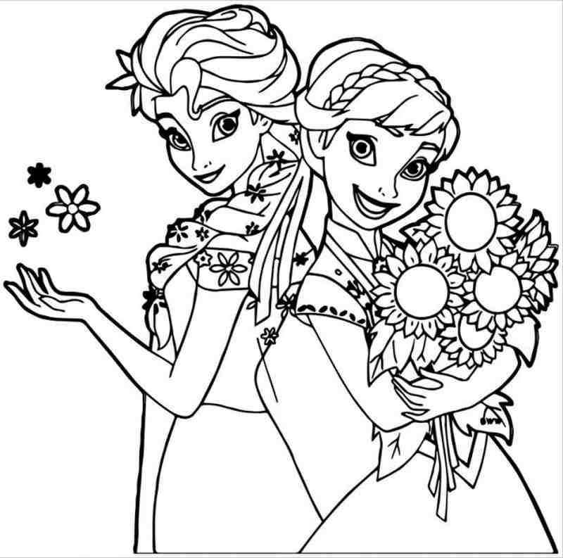 Hai nàng công chúa vui tươi bên nhau