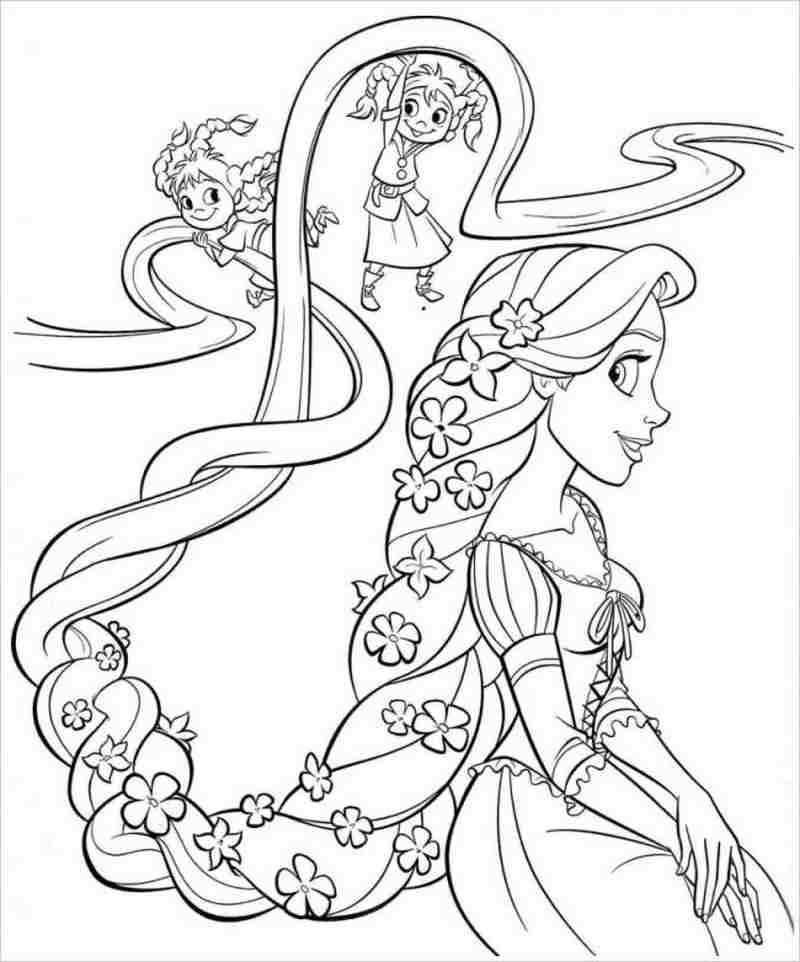 Mái tóc vàng óng của công chúa tóc mây