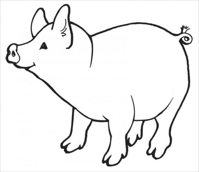 Bé tô màu chú lợn con ngộ nghĩnh này nhé