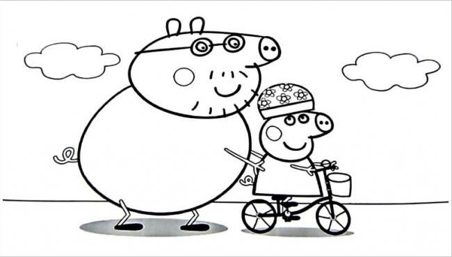Lợn bố dạy lợn con đi xe đạp