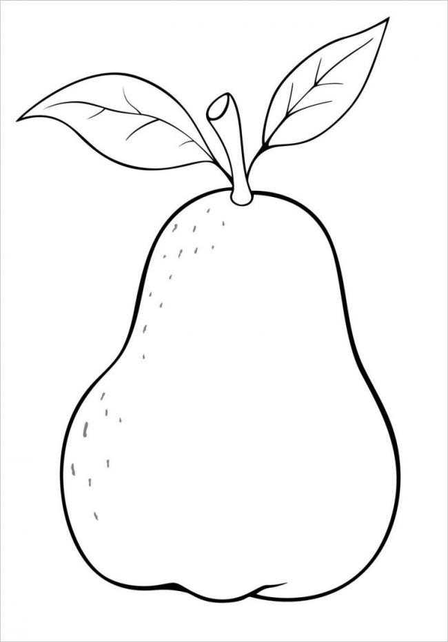Bức vẽ hình trái lê đơn giản