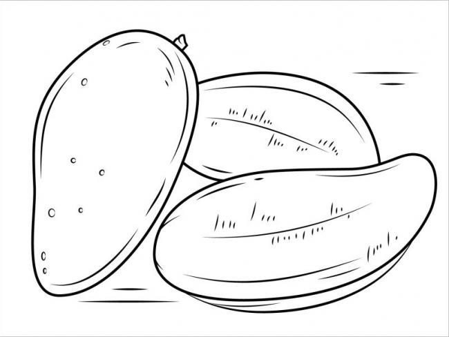 hình ảnh những trái xoài vàng xuộm khi chín